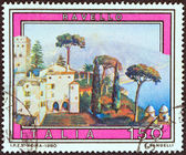 """ITALY - CIRCA 1980: A stamp printed in Italy from the """"Tourist Publicity (7th series)"""" issue shows Ravello, circa 1980. — Stock Photo"""