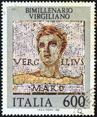 ITALY - CIRCA 1981: A stamp printed in Italy shows Roman poet Publius Vergilius Maro (Virgil), circa 1981. — Photo