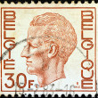 BELGIUM - CIRCA 1971: A stamp printed in Belgium shows King Baudouin, circa 1971. — Stock Photo #11176811