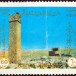 JORDAN - CIRCA 1988: A stamp printed in Jordan from the &amp;quot;Historic Sites&amp;quot; issue shows Umm Al-rasas, circa 1988. - Stock Photo