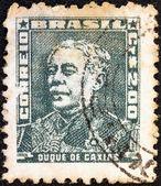 Brésil - circa 1954 : un timbre imprimé au Brésil de la question de « portraits » montre duc de caxias, vers 1954. — Photo