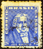 "BRAZIL - CIRCA 1954: A stamp printed in Brazil from the ""Portraits"" issue shows Jose Bonifacio, circa 1954. — Стоковое фото"