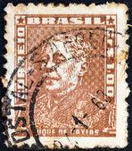 """Brasilien - ca. 1954: eine briefmarke gedruckt in brasilien aus der """"portraits""""-ausgabe zeigt herzog von caxias, ca. 1954. — Stockfoto"""