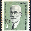 "TURKEY - CIRC1964: stamp printed in Turkey from ""Famous persons"" issue shows portrait of Islamist philosopher and author Ismail Hakki Izmirli, circ1964. — Foto de stock #11262198"