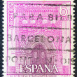 SPAIN - CIRCA 1967: A stamp printed in Spain shows Church of our Lady of Mercy, Sanlucar, Cadiz, circa 1967. — Stock Photo #11323342