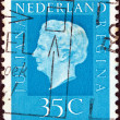 NETHERLANDS - CIRCA 1969: A stamp printed in the Netherlands shows Queen Juliana, circa 1969. — Stock Photo