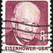 "US- CIRC1970: stamp printed in USfrom ""Prominent Americans (2nd series)"" issue shows president Dwight D. Eisenhower, circ1970. — Stock Photo #11327315"