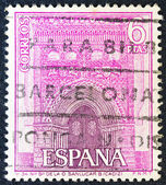 SPAIN - CIRCA 1967: A stamp printed in Spain shows Church of our Lady of Mercy, Sanlucar, Cadiz, circa 1967. — Stock Photo