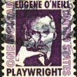 "Stock Photo: US- CIRC1965: stamp printed in USfrom ""Prominent Americans (1st series)"" issue shows Eugene O'Neill, circ1965."
