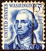 "USA - CIRCA 1965: A stamp printed in USA from the ""Prominent Americans (1st series)"" issue shows Washington (after Rembrandt Peale), circa 1965. — Stock Photo"