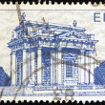"IRELAND - CIRCA 1983: A stamp printed in Ireland from the ""Irish Architecture"" issue shows Casino at Marino, circa 1983. — Stock Photo #11349083"