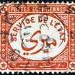"EGYPT - CIRCA 1893: A stamp printed in Egypt shows ""service of the state"", circa 1893. — Stock Photo"