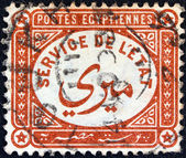 "EGYPT - CIRCA 1893: A stamp printed in Egypt shows ""service of the state"", circa 1893. — Foto Stock"