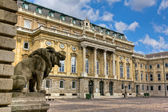 Buda castle (Royal Palace) inner courtyard, Budapest, Hungary — Stock Photo