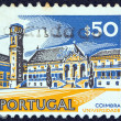 "Stock Photo: PORTUGAL - CIRC1972: stamp printed in Portugal from ""Cities and landscapes"" issue shows university of Coimbra, circ1972."