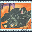 "GREECE - CIRCA 1970: A stamp printed in Greece, from the ''Hercules"" issue shows Hercules slaying the Nemean lion, circa 1970. - Stock Photo"