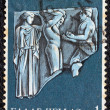 "GREECE - CIRCA 1970: A stamp printed in Greece, from the ''Hercules"" issue shows Hercules and the golden apples of Hesperides, circa 1970. - Stock Photo"