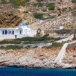 Stock Photo: Traditional cycladic chapel near Kamares, Sifnos island, Greece