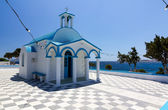 Cycladic chapel of Agios Nikolaos, Pollonia, Milos island, Greece — Stock Photo