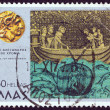 "Stock Photo: GREECE - CIRC1977: stamp printed in Greece from ''Alexander Great"" issue shows ""legend of bathyscaphe"", circ1977."