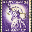 "USA - CIRCA 1954: A stamp printed in USA from the ""Liberty"" issue shows the Statue of Liberty, circa 1954. — Stock Photo #11613100"