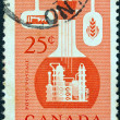 Stock Photo: CANAD- CIRC1956: stamp printed in Canadissued to emphasize importance of chemical industry in economy of Canada, circ1956.