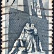 Stock Photo: CANADA - CIRCA 1968: A stamp printed in Canada issued for the 50th Anniversary of 1918 Armistice, shows the Armistice Monument, Vimy, circa 1968.