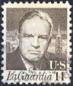 "USA - CIRCA 1972: A stamp printed in USA from the ""Prominent Americans"" issue shows a portrait of New York mayor Fiorello La Guardia, circa 1972. — Stock Photo"