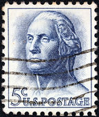 USA - CIRCA 1962: A stamp printed in USA shows a portrait of president George Washington by Houdon, circa 1962. — Stock Photo