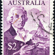 "AUSTRALIA - CIRCA 1966: A stamp printed in Australia From the ""Navigators"" issue shows a portrait of George Bass, circa 1966. — Stock Photo"