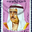 KUWAIT - CIRC1974: stamp printed in Kuwait shows portrait of Sheikh Sabah emir of Kuwait, circ1974. — Stock Photo #11639150