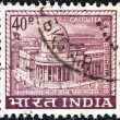 INDIA - CIRCA 1968: A stamp printed in India shows Calcutta G.P.O. (General Post Office), circa 1968. — Stock Photo