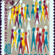 POLAND - CIRCA 1970: A stamp printed in Poland shows National census population pictograph, circa 1970. - Stock Photo