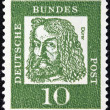 Постер, плакат: GERMANY CIRCA 1961: A stamp printed in Germany from the Famous Germans issue shows painter Albrecht Durer circa 1961