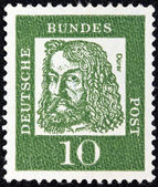 "GERMANY - CIRCA 1961: A stamp printed in Germany from the ""Famous Germans"" issue shows painter Albrecht Durer, circa 1961. — Stock Photo"
