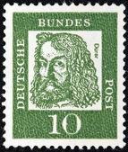 """Německo - cca 1961: známka vytištěna v německu od """"slavné němci"""" emise ukazuje malíř albrecht durer, cca 1961. — Stock fotografie"""