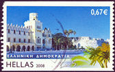 "GREECE - CIRCA 2008: A stamp printed in Greece from the ""Greek islands"" issue shows Kos island, circa 2008. — Stock Photo"