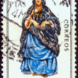 "SPAIN - CIRCA 1970: A stamp printed in Spain from the ""Provincial Costumes"" issue shows a woman from Sahara, circa 1970. — Stock Photo"