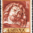 "SPAIN - CIRCA 1962: A stamp printed in Spain from the ""Rubens Paintings"" issue shows a self portrait, circa 1962. — Stock Photo"