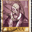 SPAIN - CIRCA 1961: A stamp printed in Spain from the shows a self portrait of El Greco, circa 1961. — Stock Photo #11981872