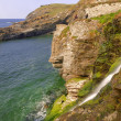Tintagel Beach Waterfall - Stock Photo