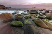 Porth Nanven - Cot Valley West Cornwall at sunset — Stock Photo