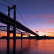 Stock Photo: Tamar Bridge Silhouette