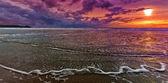 Sunset dribble — Stock Photo