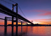 Tamar Bridge Silhouette — Stock Photo