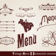 Royalty-Free Stock Vector Image: Restaurnt and Menu ornaments