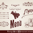 Restaurnt and Menu ornaments — Stock Vector