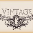 Vintage angelic banner — Stock Vector