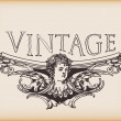Vintage angelic banner - Stock Vector