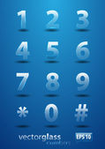 Glass Numbers — Stock Vector